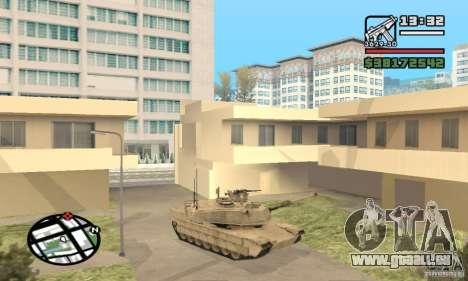 M1A2 Abrams TUSK pour GTA San Andreas laissé vue