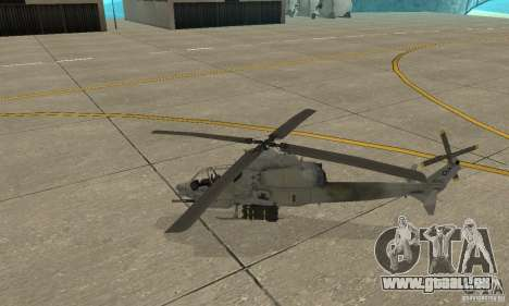 Hunter - AH-1Z Cobra für GTA San Andreas linke Ansicht
