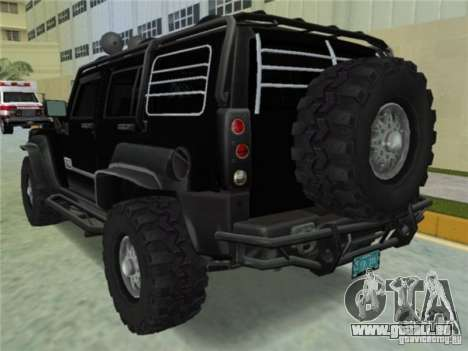 Hummer H3 SUV FBI für GTA Vice City linke Ansicht