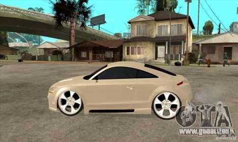 Audi TT Quattro 2007 pour GTA San Andreas laissé vue