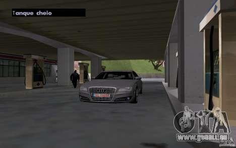 Voiture de citerne à gaz station pour GTA San Andreas quatrième écran