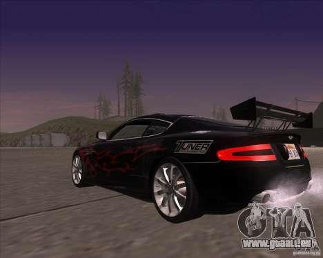 Aston Martin DB9 tunable für GTA San Andreas Seitenansicht