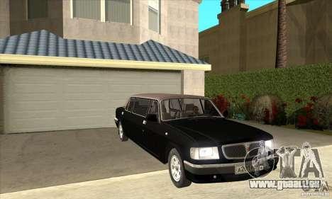 GAZ 3110 Sedan pour GTA San Andreas vue arrière