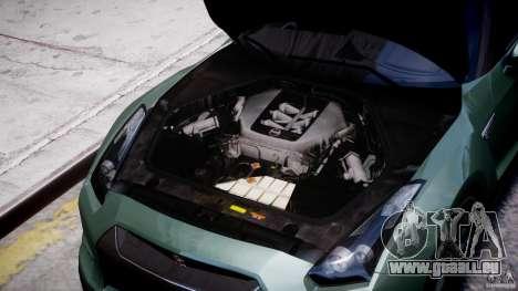 Nissan GT-R R35 2010 v1.3 pour GTA 4 est une vue de l'intérieur
