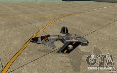 Hawk Air Command and Conquer 3 für GTA San Andreas zurück linke Ansicht