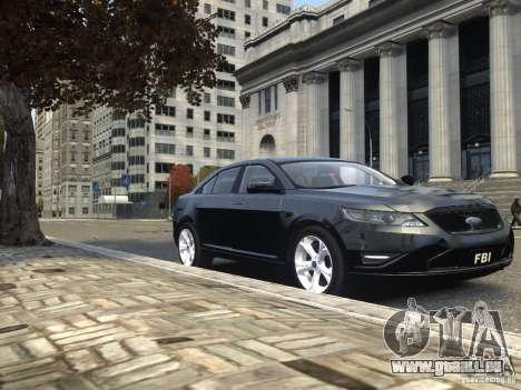 Ford Taurus FBI 2012 für GTA 4 Seitenansicht
