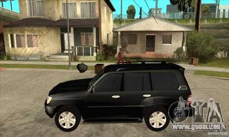 Toyota Land Cruiser 100vx v2.1 pour GTA San Andreas sur la vue arrière gauche