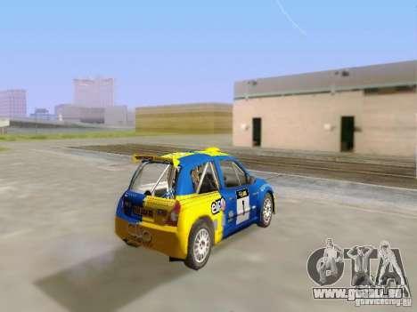 Renault Clio Super 1600 pour GTA San Andreas laissé vue