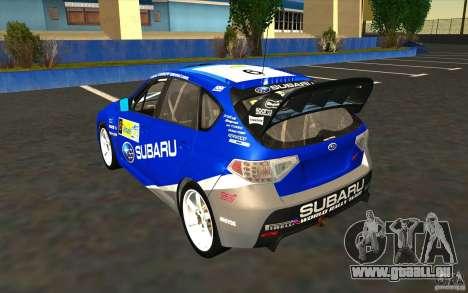 Nouveaux vinyles pour Subaru Impreza WRX STi pour GTA San Andreas roue