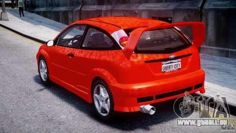 Ford Focus SVT WRC Street pour GTA 4 Vue arrière de la gauche