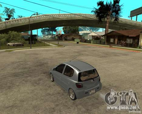 Toyota Vitz pour GTA San Andreas laissé vue
