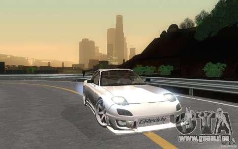 Mazda Rx7 C-West pour GTA San Andreas vue intérieure