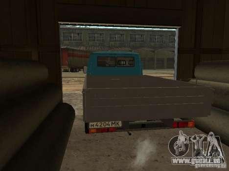 GAZ 33021 pour GTA San Andreas sur la vue arrière gauche