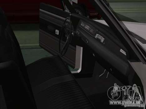 Plymouth Roadrunner 440 pour GTA San Andreas vue intérieure