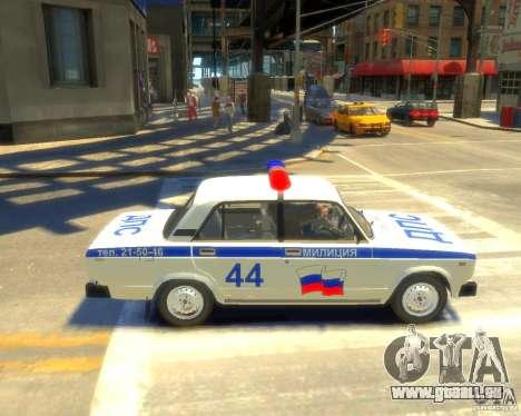 VAZ-2105-Polizei für GTA 4 linke Ansicht