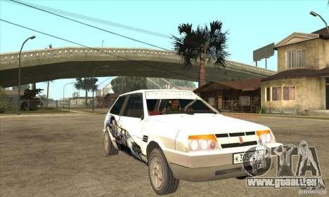 VAZ 2108 à l'écoute pour GTA San Andreas vue arrière