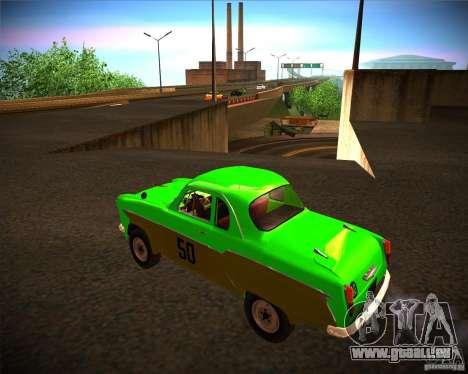 Moskvitch 407G pour GTA San Andreas laissé vue