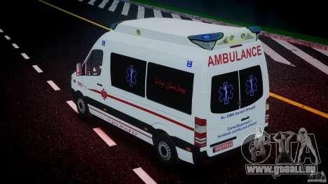 Mercedes-Benz Sprinter Iranian Ambulance [ELS] pour GTA 4 Salon