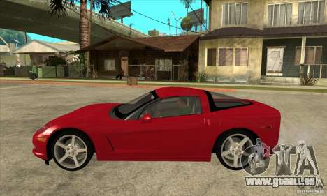 Chevrolet Corvette C6 Z51 - Stock für GTA San Andreas linke Ansicht