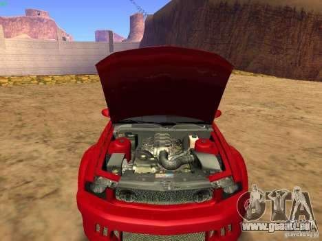 Ford Mustang GT 2005 Tuned für GTA San Andreas obere Ansicht
