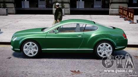 Bentley Continental GT für GTA 4 hinten links Ansicht
