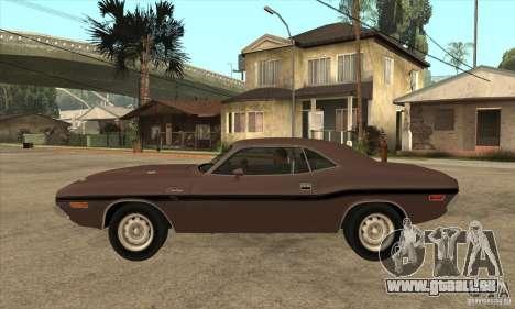 Dodge Challenger R/T Hemi 426 pour GTA San Andreas laissé vue