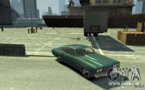 Chevrolet Chevelle SS 454 v2 pour GTA 4 Vue arrière