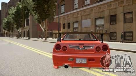 Nissan Skyline GT-R R34 Underground Style pour GTA 4 est un droit