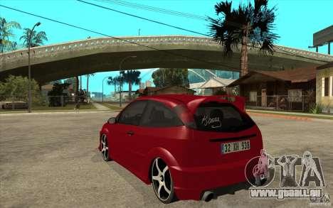 Ford Focus Coupe Tuning für GTA San Andreas zurück linke Ansicht
