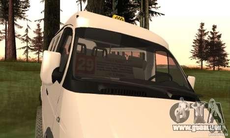 Minibus de Novossibirsk Gazelle 32213 pour GTA San Andreas vue de droite