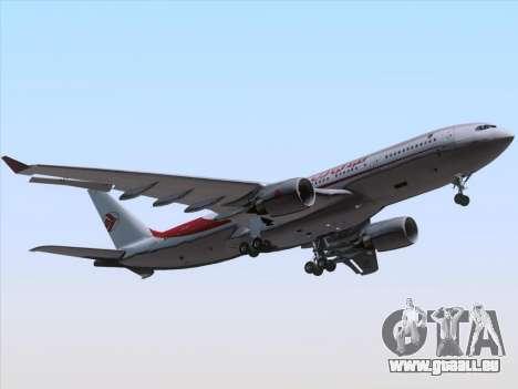 Airbus A330-203 Air Algerie für GTA San Andreas obere Ansicht