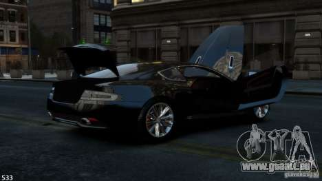Aston Martin Virage 2012 v1.0 für GTA 4 Rückansicht