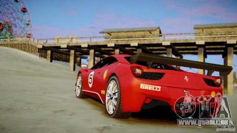Ferrari 458 Challenge 2011 für GTA 4 linke Ansicht