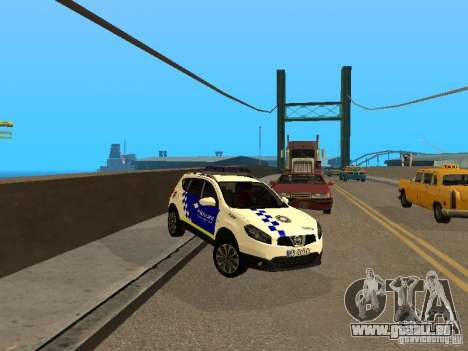 Nissan Qashqai Espaqna Police pour GTA San Andreas