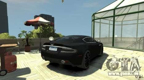 Aston Martin DBS v1.1 teinté pour GTA 4 Vue arrière de la gauche
