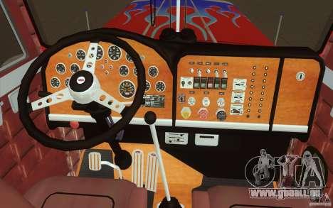 Peterbilt 379 Optimus Prime pour GTA San Andreas vue de dessus
