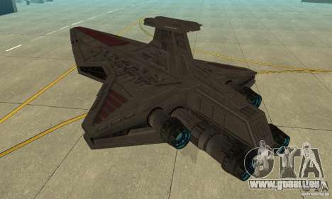 Republic Attack Cruiser Venator class v3 pour GTA San Andreas sur la vue arrière gauche