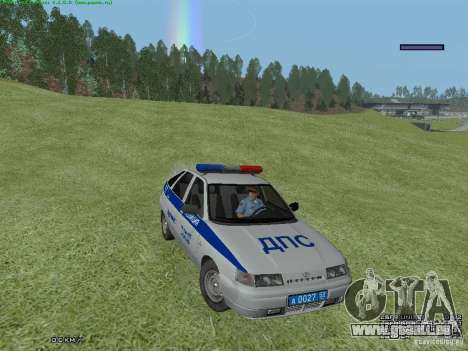 LADA 2112 DPS Police pour GTA San Andreas