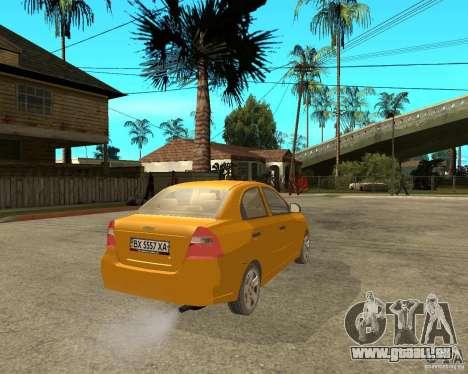 Chevrolet Aveo 2007 für GTA San Andreas zurück linke Ansicht
