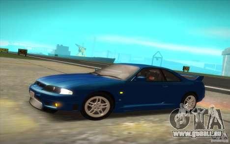 Nissan Skyline R33 GT-R V-Spec pour GTA San Andreas sur la vue arrière gauche