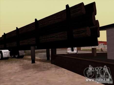 Kenworth K100 Aerodyne-trailer für GTA San Andreas rechten Ansicht