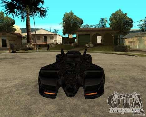 Batmobile pour GTA San Andreas vue arrière
