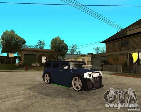 AMG H2 HUMMER Jvt HARD exclusive TUNING pour GTA San Andreas vue de droite