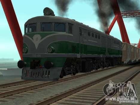 TE2-414 pour GTA San Andreas laissé vue