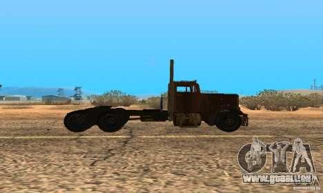 Duel Peterbilt pour GTA San Andreas sur la vue arrière gauche