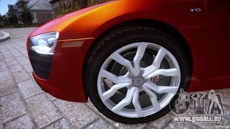 Audi R8 V10 pour GTA 4 Vue arrière de la gauche