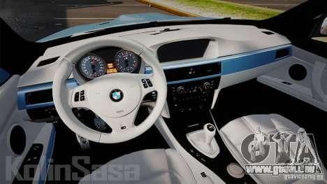BMW E92 M3 Threep Edition pour GTA 4 Vue arrière