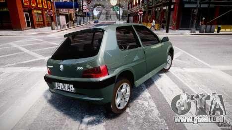 Peugeot 106 Quicksilver pour GTA 4 est un droit