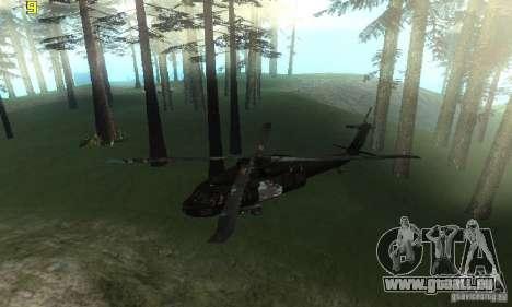 UH-60M Black Hawk pour GTA San Andreas vue de droite