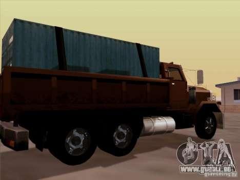 New Flatbed pour GTA San Andreas vue de droite